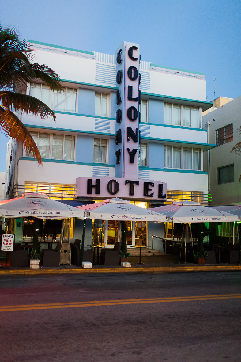 Colony hotel, Ocean Drive Miami